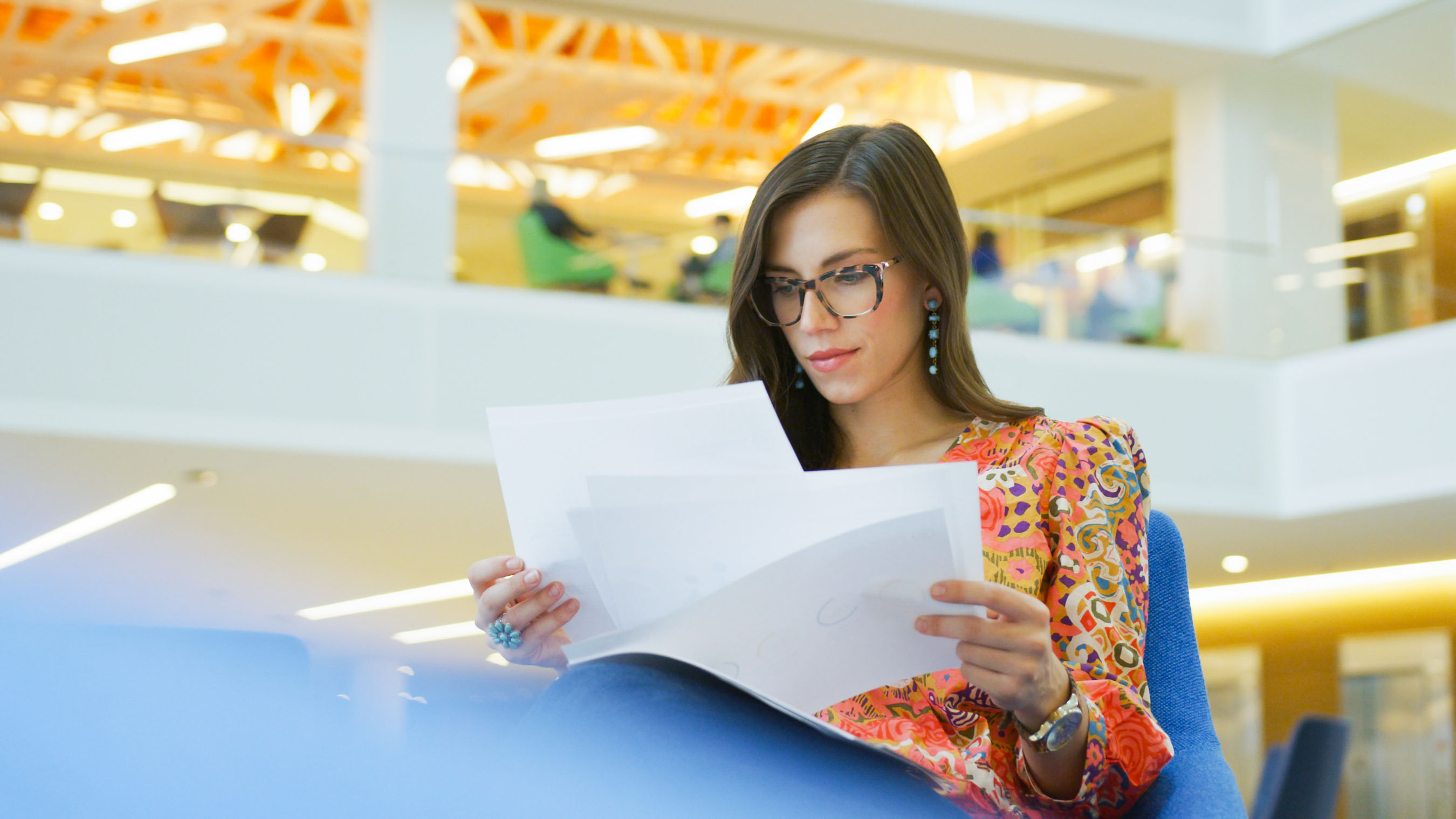 Woman Reading in Corporate Video Production