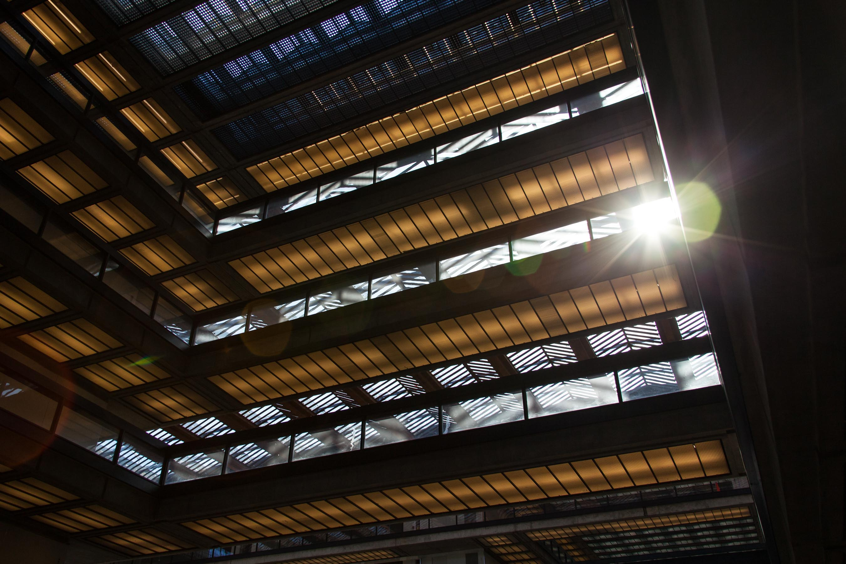 Looking Up at The Atrium of Bell Works NJ