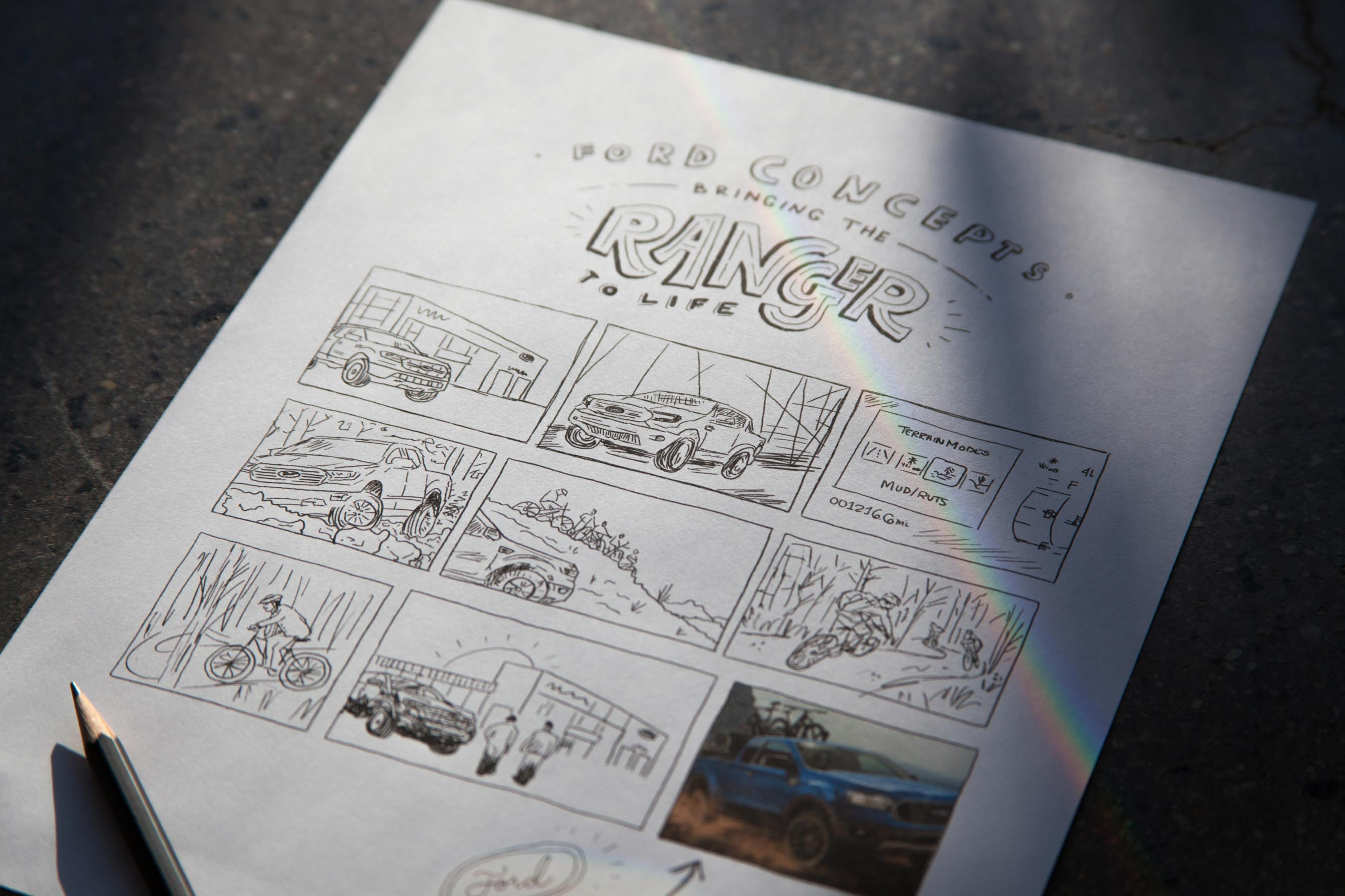 Video Production Storyboard for Ford Car Commercial